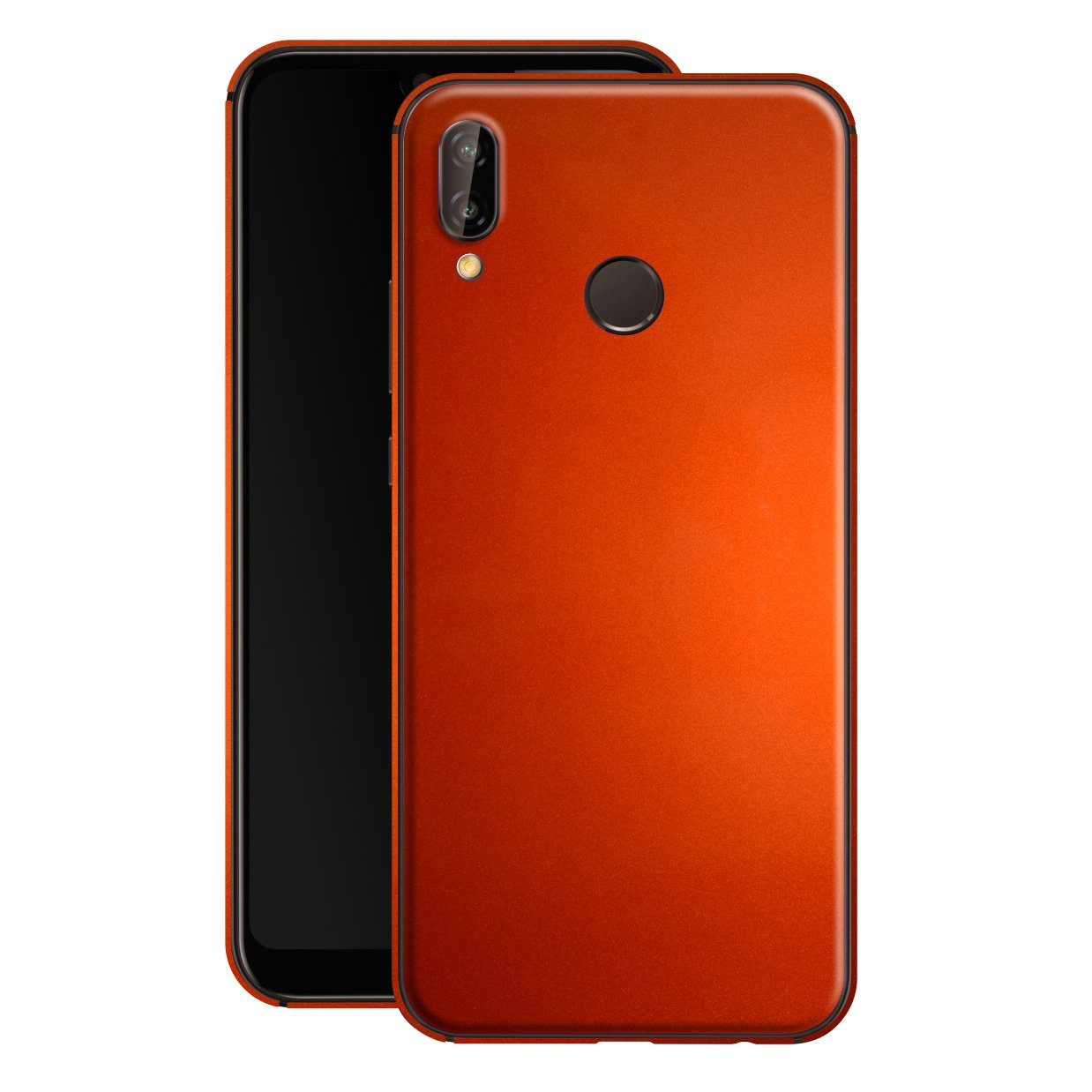 Huawei P20 LITE Fiery Orange Tuning Metallic Skin, Decal, Wrap, Protector, Cover by EasySkinz | EasySkinz.com