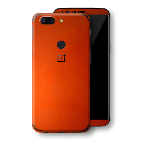 OnePlus 5T Fiery Orange Tuning Metallic Skin, Decal, Wrap, Protector, Cover by EasySkinz | EasySkinz.com