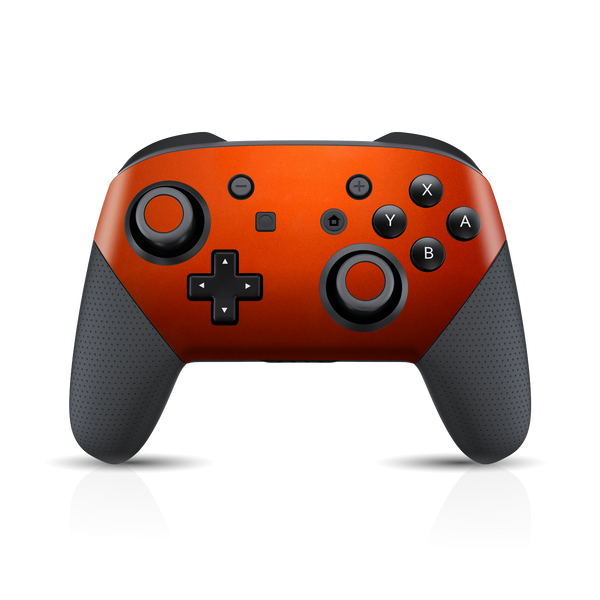 Nintendo Switch Pro Controller 3M Fiery Orange Metallic Skin Wrap Sticker Decal Cover Protector by EasySkinz