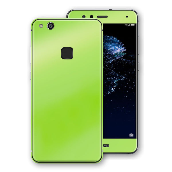 Huawei P10 LITE Apple Green Pearl Gloss Finish Skin, Decal, Wrap, Protector, Cover by EasySkinz | EasySkinz.com