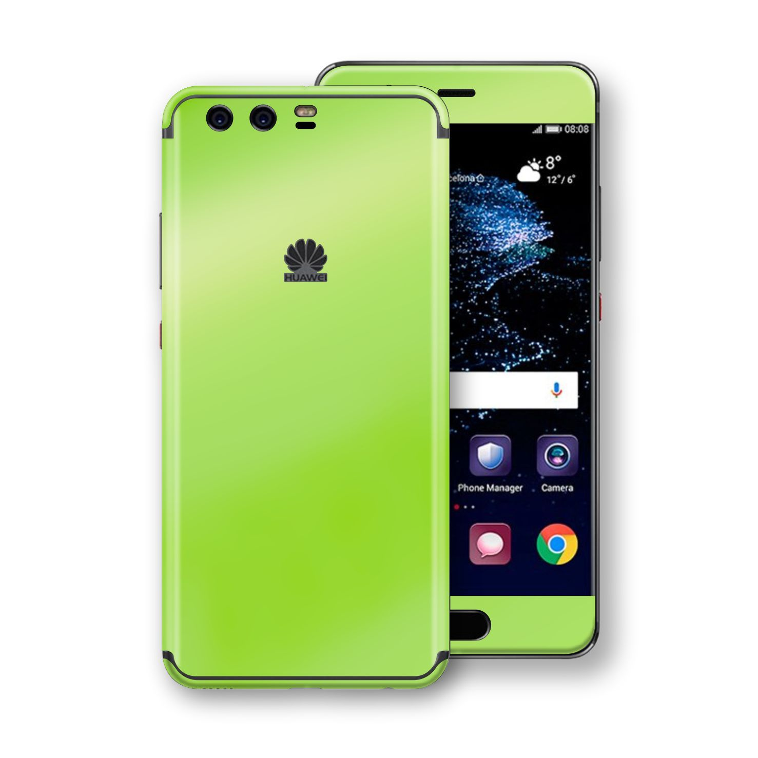 Huawei P10+ PLUS Apple Green Pearl Gloss Finish Skin, Decal, Wrap, Protector, Cover by EasySkinz | EasySkinz.com