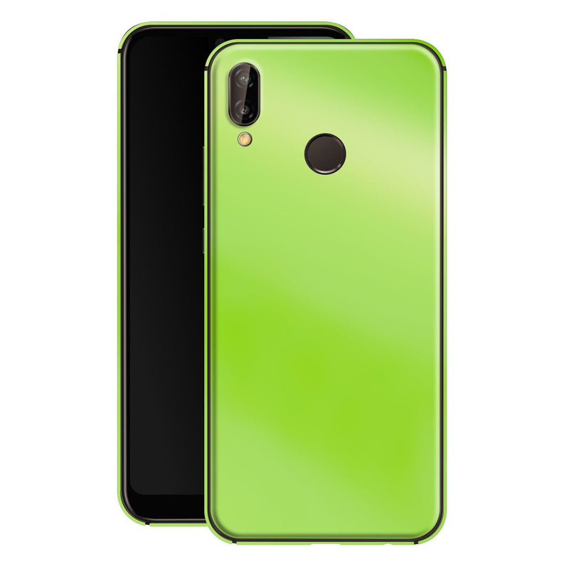 Huawei P20 LITE Apple Green Pearl Gloss Finish Skin, Decal, Wrap, Protector, Cover by EasySkinz | EasySkinz.com