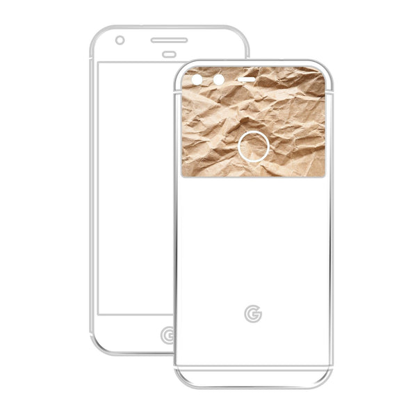 Google Pixel XL 3D Textured CARBON Fibre Skin - WHITE