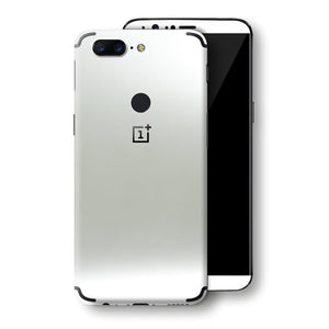 OnePlus 5T Satin Pearl White Matt Skin, Decal, Wrap, Protector, Cover by EasySkinz | EasySkinz.com