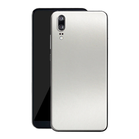 Huawei P20 Satin Pearl White Matt Skin, Decal, Wrap, Protector, Cover by EasySkinz | EasySkinz.com
