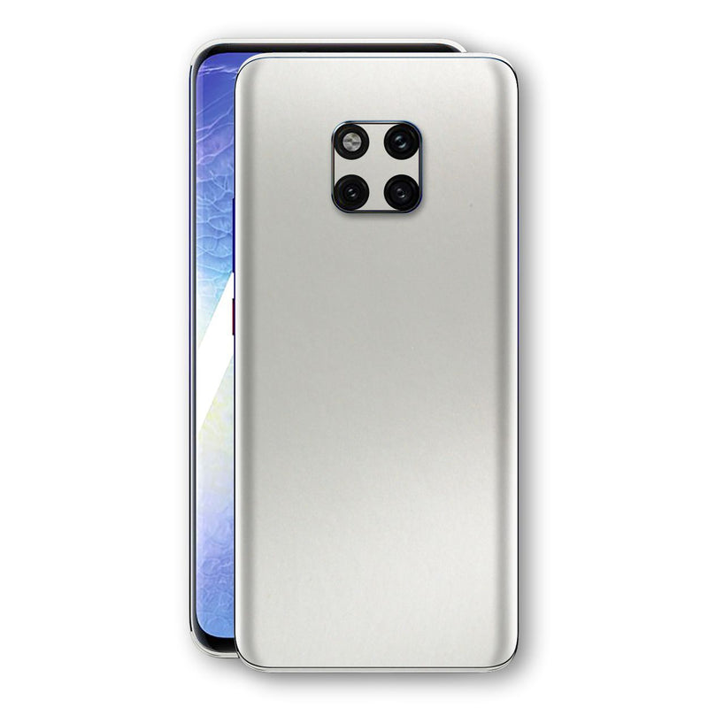 Huawei MATE 20 PRO Satin Pearl White Matt Skin, Decal, Wrap, Protector, Cover by EasySkinz | EasySkinz.com