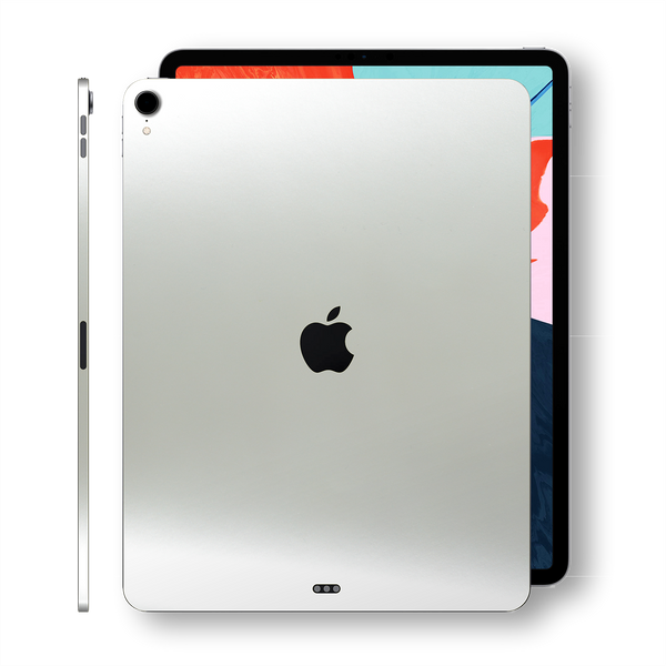 iPad PRO 11-inch 2018 Matt Matte 3M SATIN PEARL WHITE Skin Wrap Sticker Decal Cover Protector by EasySkinz