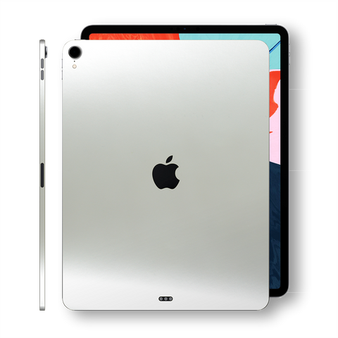 iPad PRO 12.9 inch 3d Generation 2018 Matt Matte 3M SATIN PEARL WHITE Skin Wrap Sticker Decal Cover Protector by EasySkinz