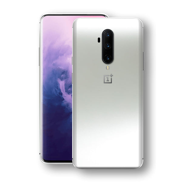 OnePlus 7T PRO Satin Pearl White Matt Skin, Decal, Wrap, Protector, Cover by EasySkinz | EasySkinz.com