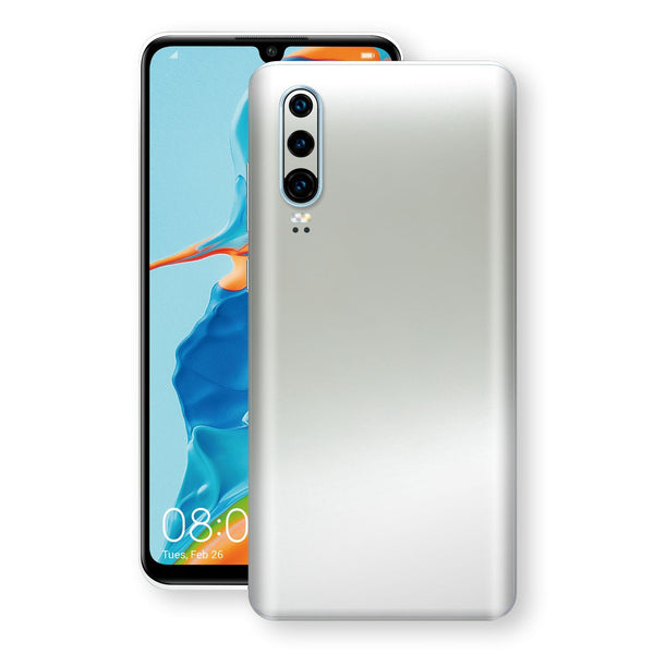 Huawei P30 Satin Pearl White Matt Skin, Decal, Wrap, Protector, Cover by EasySkinz | EasySkinz.com