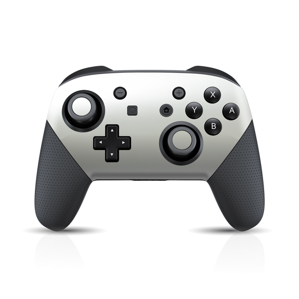 Nintendo Switch Pro Controller Matt Matte SATIN PEARL WHITE Skin Wrap Sticker Decal Cover Protector by EasySkinz