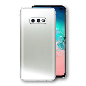Samsung Galaxy S10e Satin Pearl White Matt Skin, Decal, Wrap, Protector, Cover by EasySkinz | EasySkinz.com