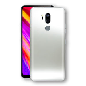LG G7 ThinQ Satin Pearl White Matt Skin, Decal, Wrap, Protector, Cover by EasySkinz | EasySkinz.com