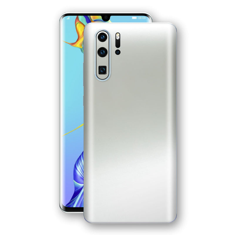 Huawei P30 PRO Satin Pearl White Matt Skin, Decal, Wrap, Protector, Cover by EasySkinz | EasySkinz.com