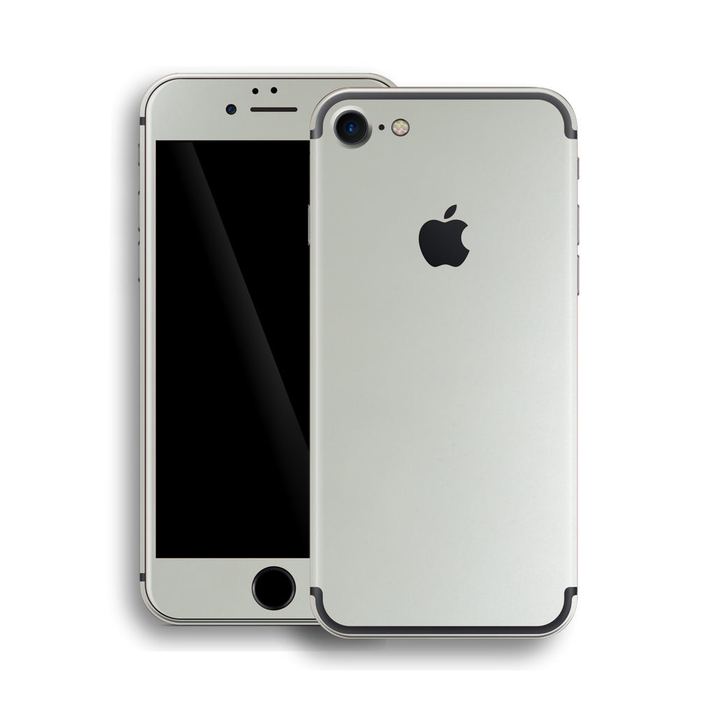 iPhone 7 Satin Pearl White Matt Matte Skin, Wrap, Decal, Protector, Cover by EasySkinz | EasySkinz.com