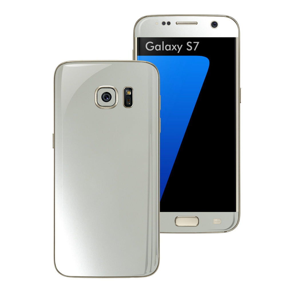 Samsung Galaxy S7 3M Satin Pearl White Skin Wrap Decal Sticker Cover Protector by EasySkinz