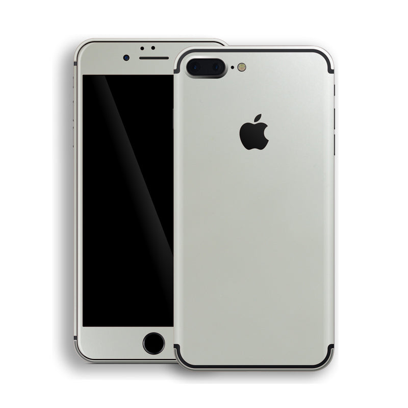iPhone 7 Plus Satin Pearl White Matt Skin, Decal, Wrap, Protector, Cover by EasySkinz | EasySkinz.com