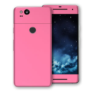 Google Pixel 2 XL Hot Pink Glossy Gloss Finish Skin, Decal, Wrap, Protector, Cover by EasySkinz | EasySkinz.com