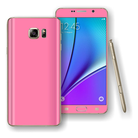 Samsung Galaxy NOTE 5 3M Hot Pink Glossy Skin Wrap Decal Cover Protector by EasySkinz