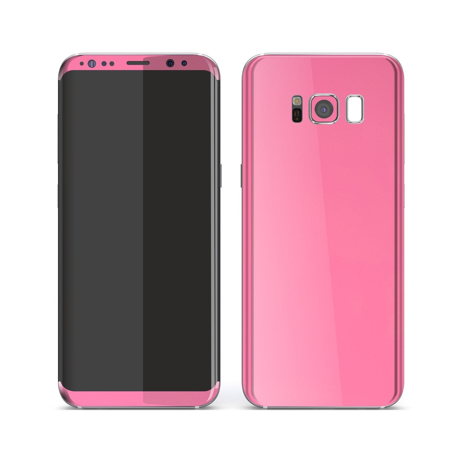 Samsung Galaxy S8 Hot Pink Glossy Gloss Finish Skin, Decal, Wrap, Protector, Cover by EasySkinz | EasySkinz.com