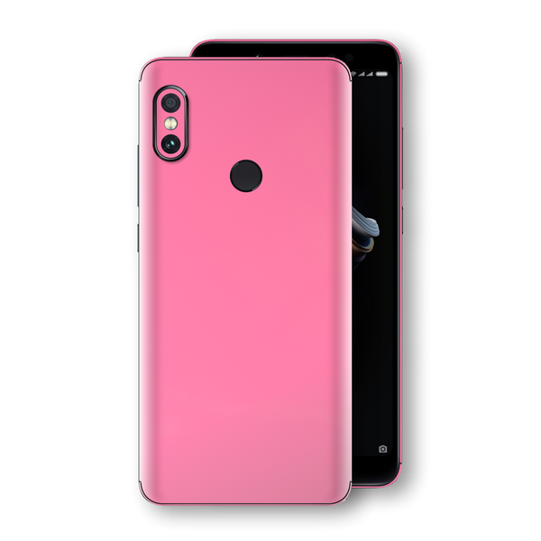 XIAOMI Redmi NOTE 5 Hot Pink Glossy Gloss Finish Skin, Decal, Wrap, Protector, Cover by EasySkinz | EasySkinz.com