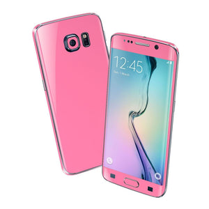 Samsung Galaxy S6 EDGE Colorful PINK MATT Skin Wrap Sticker Cover Protector Decal by EasySkinz