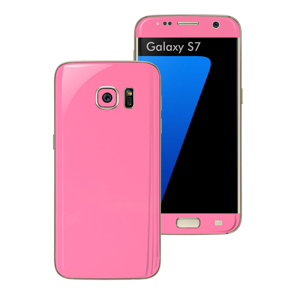 Samsung Galaxy S7 3M PINK MATT Skin Wrap Decal Sticker Cover Protector by EasySkinz