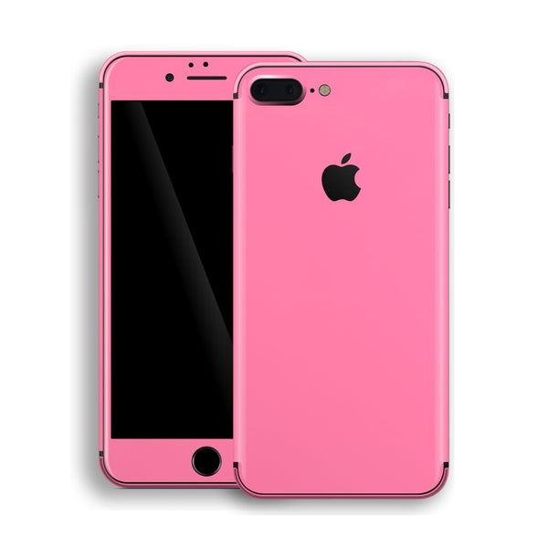 iPhone 8 Plus Hot Pink Glossy Gloss Finish Skin, Decal, Wrap, Protector, Cover by EasySkinz | EasySkinz.com