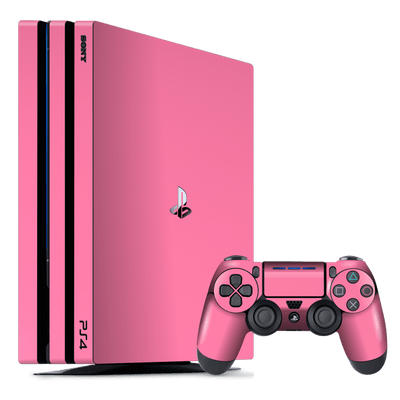 Playstation 4 PRO PS4 PRO Glossy PINK Skin Wrap Decal by EasySkinz