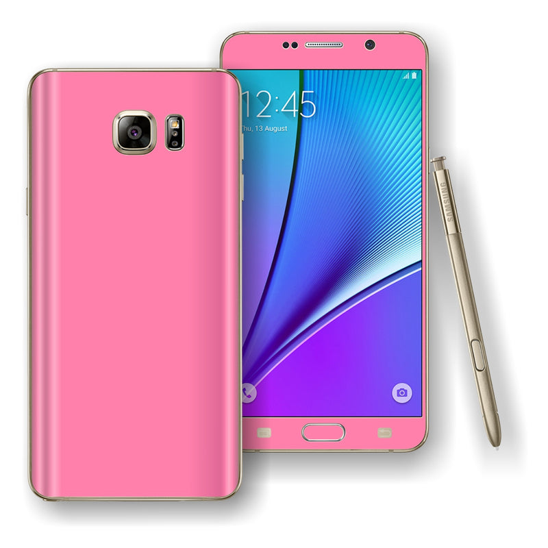 Samsung Galaxy NOTE 5 Pink Matt Metallic Skin Wrap Decal Cover Protector by EasySkinz