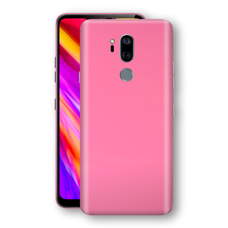 LG G7 ThinQ Hot Pink Glossy Gloss Finish Skin, Decal, Wrap, Protector, Cover by EasySkinz | EasySkinz.com