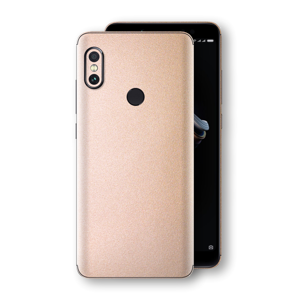 XIAOMI Redmi NOTE 5 Luxuria Rose Gold Metallic Skin Wrap Decal Protector | EasySkinz