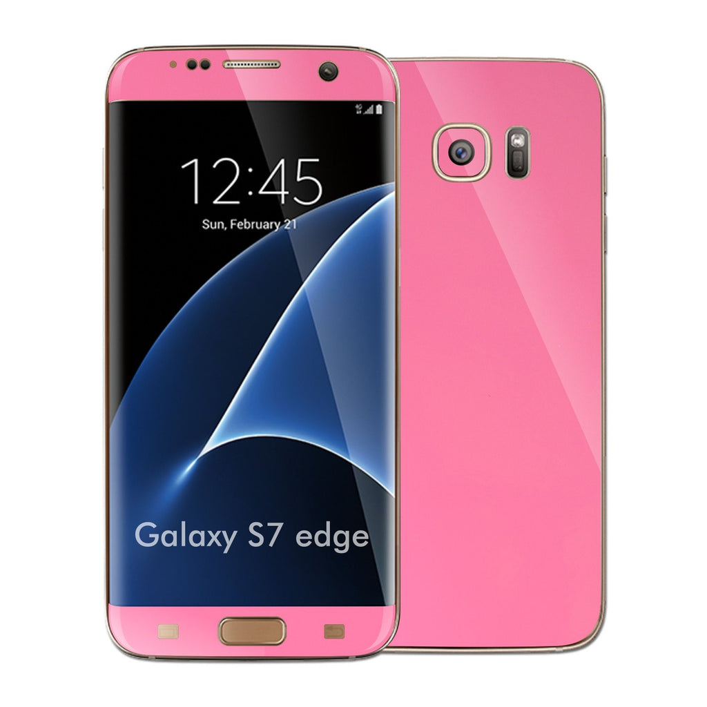 Samsung Galaxy S7 EDGE 3M Glossy Pink Skin Wrap Decal Sticker Cover Protector by EasySkinz