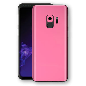Samsung GALAXY S9 Hot Pink Glossy Gloss Finish Skin, Decal, Wrap, Protector, Cover by EasySkinz | EasySkinz.com