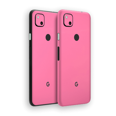 Google Pixel 4a Hot Pink Glossy Gloss Finish Skin Wrap Sticker Decal Cover Protector by EasySkinz