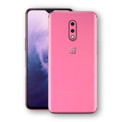 OnePlus 7 Hot Pink Glossy Gloss Finish Skin, Decal, Wrap, Protector, Cover by EasySkinz | EasySkinz.com
