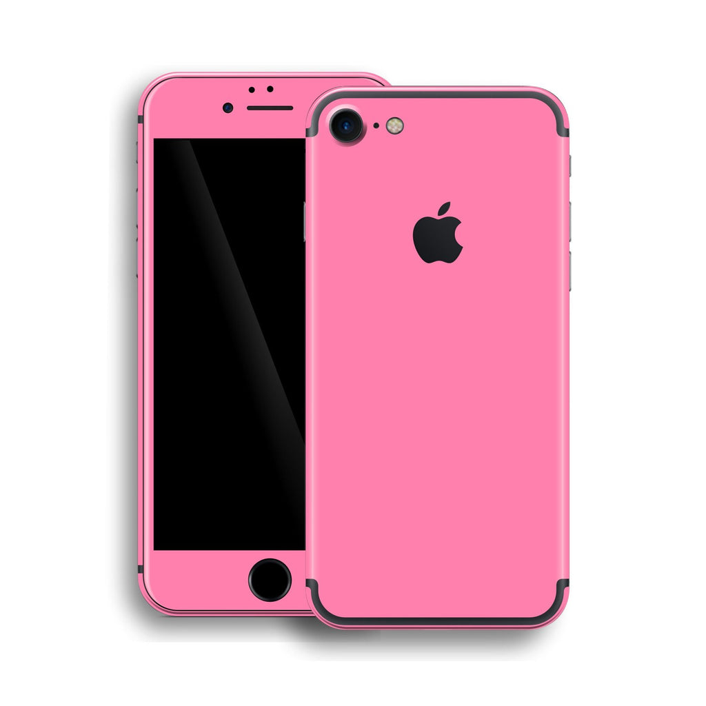 iPhone 7 Pink Matt Matte Skin, Wrap, Decal, Protector, Cover by EasySkinz | EasySkinz.com