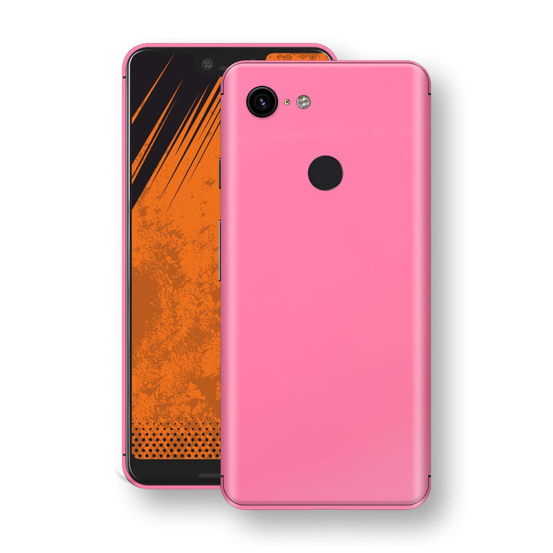 Google Pixel 3 XL Hot Pink Glossy Gloss Finish Skin, Decal, Wrap, Protector, Cover by EasySkinz | EasySkinz.com