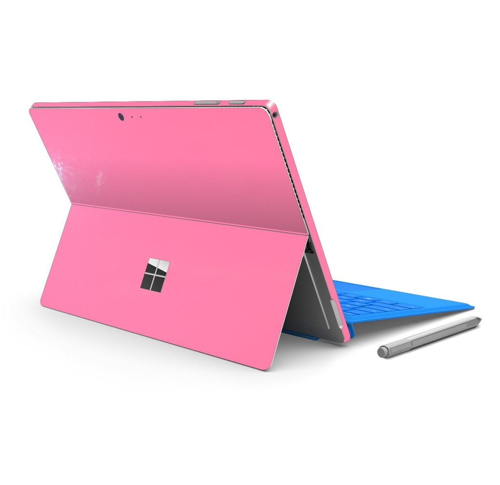 Microsoft Surface PRO 4 Glossy 3M PINK Skin Wrap Sticker Decal Cover Protector by EasySkinz