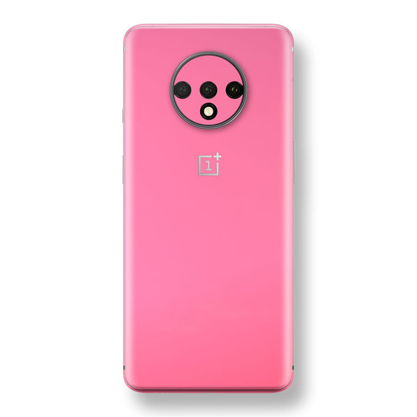 OnePlus 7T Hot Pink Glossy Gloss Finish Skin, Decal, Wrap, Protector, Cover by EasySkinz | EasySkinz.com