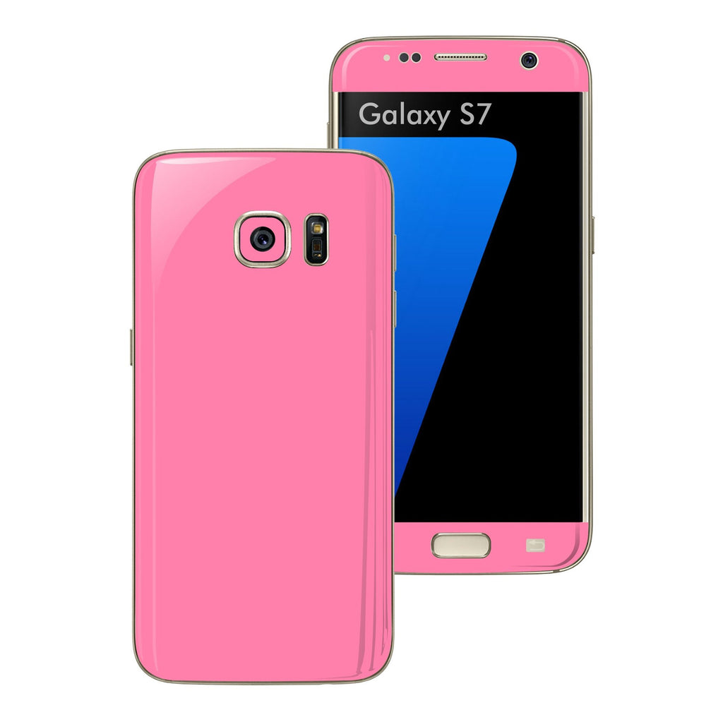 Samsung Galaxy S7 3M Glossy Pink Skin Wrap Decal Sticker Cover Protector by EasySkinz