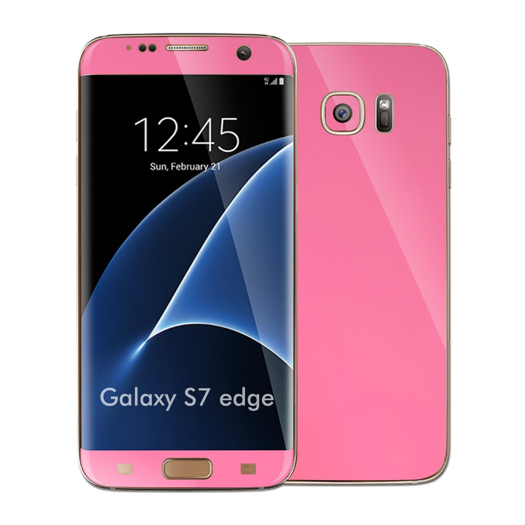 Samsung Galaxy S7 EDGE 3M PINK Matt Skin Wrap Decal Sticker Cover Protector by EasySkinz