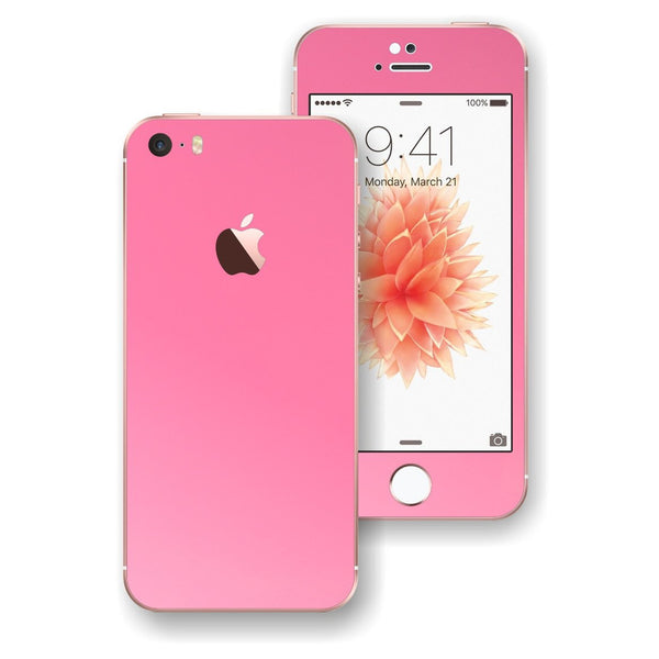 iPhone SE 3M Glossy PINK Skin Wrap Decal Sticker Cover Protector by EasySkinz