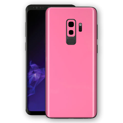 Samsung GALAXY S9+ PLUS Hot Pink Glossy Gloss Finish Skin, Decal, Wrap, Protector, Cover by EasySkinz | EasySkinz.com