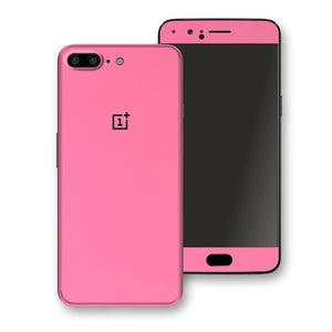 OnePlus 5 Hot Pink Glossy Gloss Finish Skin, Decal, Wrap, Protector, Cover by EasySkinz | EasySkinz.com