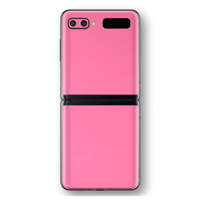 Samsung Galaxy Z Flip Hot Pink Glossy Gloss Finish Skin Wrap Sticker Decal Cover Protector by EasySkinz