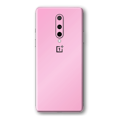 OnePlus 8 Orange Hot Pink Glossy Gloss Finish Skin Wrap Sticker Decal Cover Protector by EasySkinz