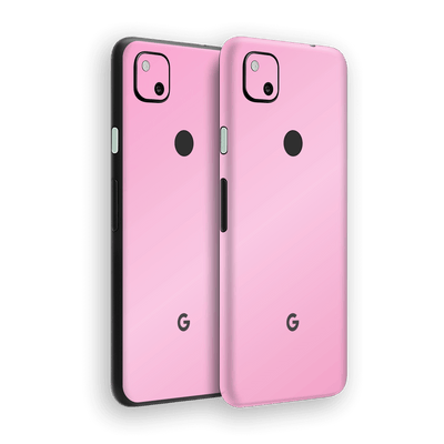 Google Pixel 4a Pink Matt Skin Wrap Sticker Decal Cover Protector by EasySkinz