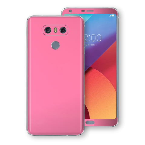 LG G6 Hot Pink Glossy Gloss Finish Skin, Decal, Wrap, Protector, Cover by EasySkinz | EasySkinz.com