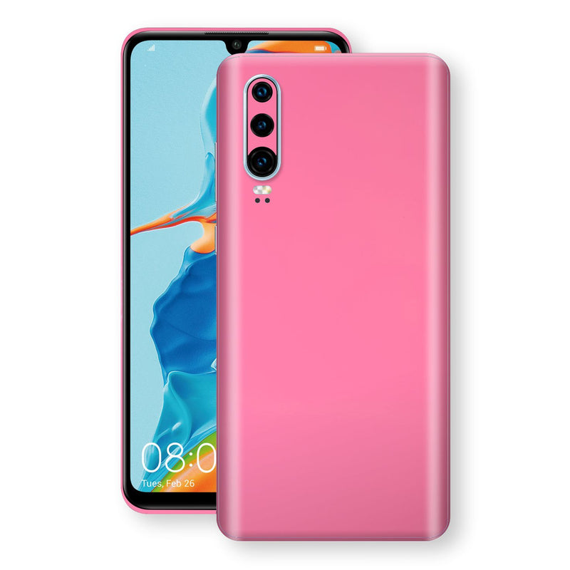Huawei P30 Hot Pink Glossy Gloss Finish Skin, Decal, Wrap, Protector, Cover by EasySkinz | EasySkinz.com